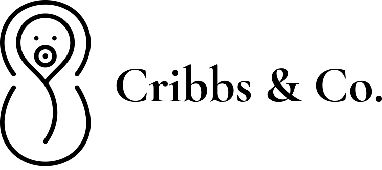 Cribbs & Co. logo with baby