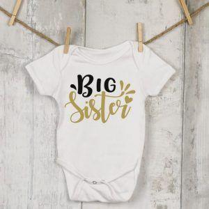 Tiny, Baby Big Sister Vest