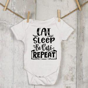 Premature, Baby Eat Sleep Vest
